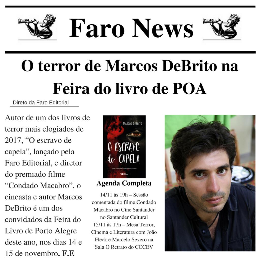 Terror e suspense na Feira do Livro de Porto Alegre