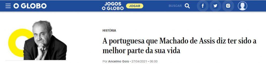 """""""O homem que odiava Machado de Assis"""" na coluna Ancelmo Góis"""