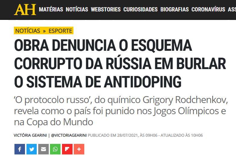 """Protocolo Russo"" na revista Aventuras na História"