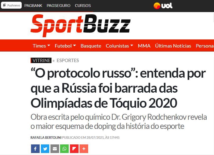 """Protocolo Russo"" no Sport Buzz"