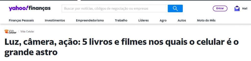 """""""Entre Mundos"""" no portal Yahoo"""
