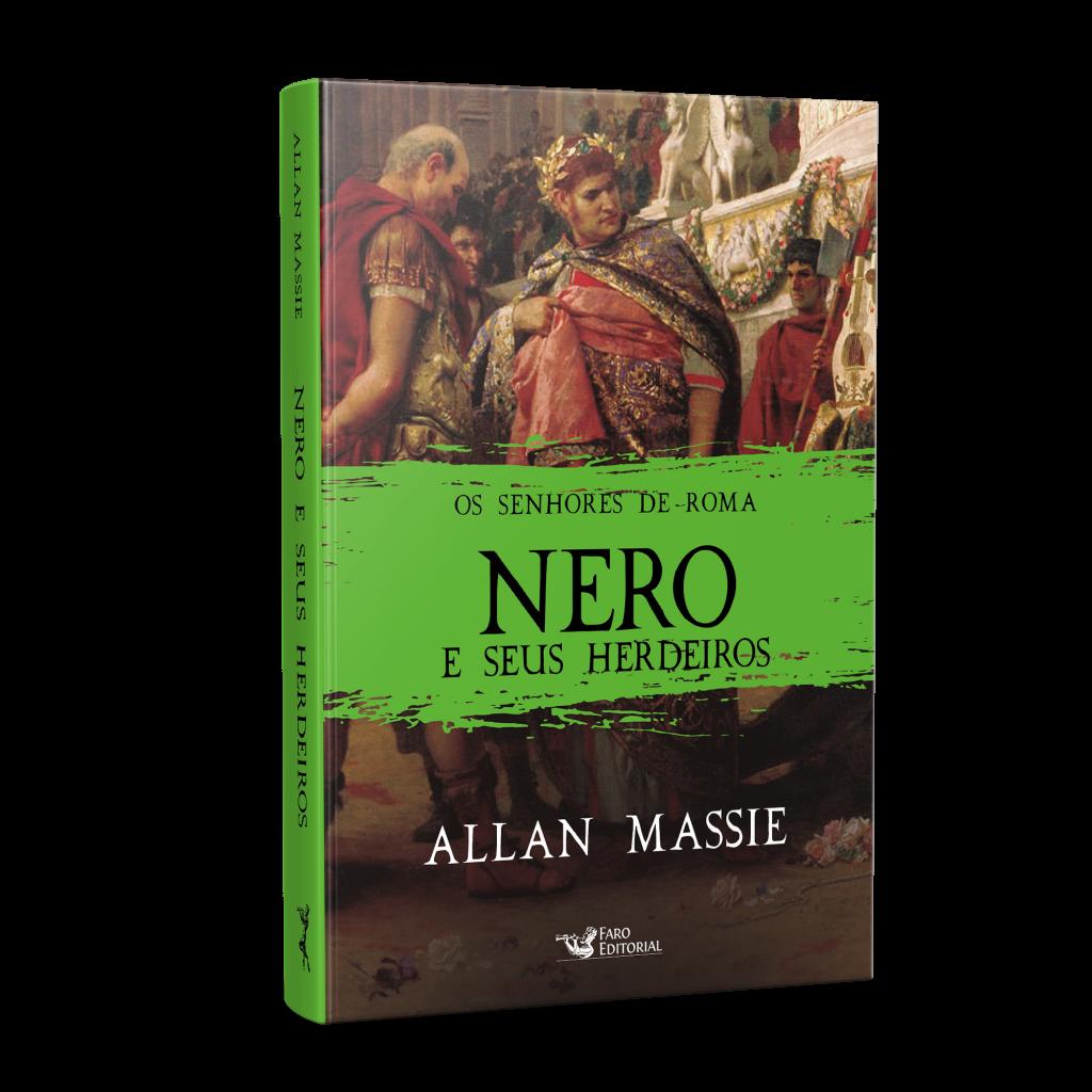 """Faro Editorial lança os dois últimos volumes da série """"Os Senhores de Roma"""", sobre os imperadores Nero e Calígula"""