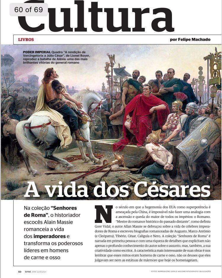 """""""Senhores de Roma"""" na Revista IstoÉ"""